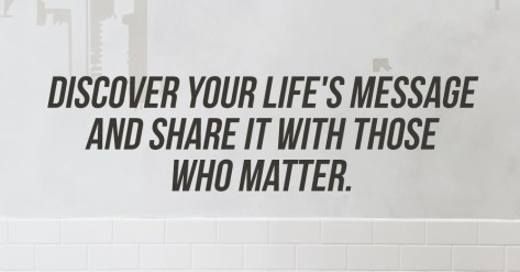 lifes message